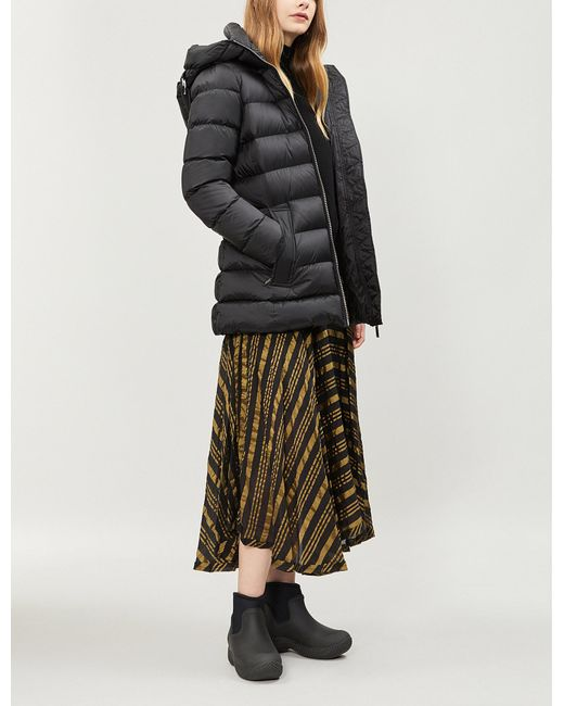 Burberry - Water Resistant Womens Black Check Limehouse Hooded Shell-down  Puffer Coat - Lyst 0f5a95e23
