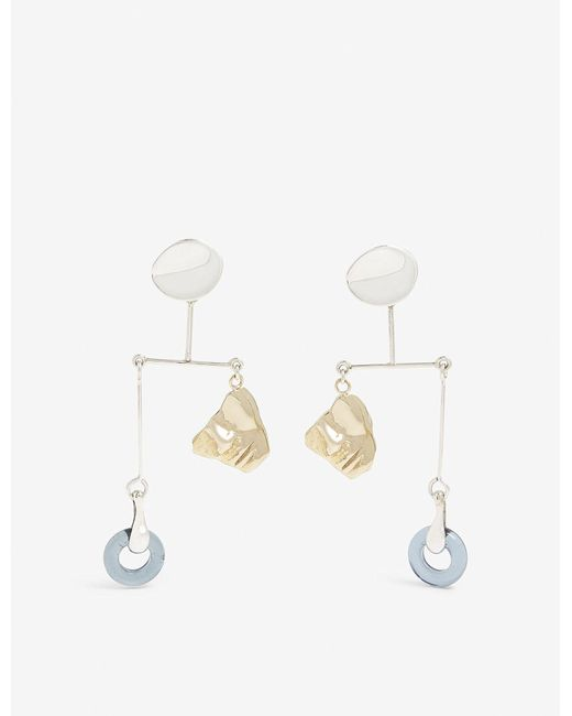 Faris - Metallic Portra Sterling Silver And Bronze Mobile Earrings - Lyst