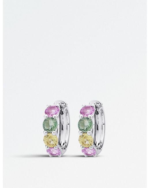 BUCHERER JEWELLERY - Metallic 18ct White-gold And Sapphire Earrings - Lyst