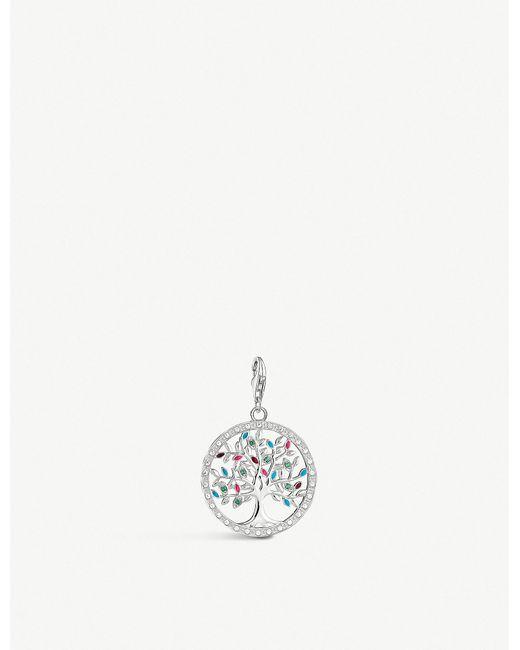 Thomas Sabo - Metallic Tree Of Life Sterling Silver Charm - Lyst