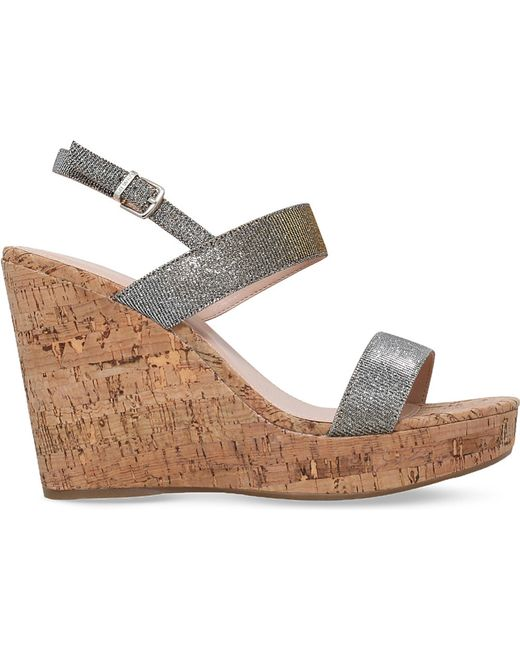 Carvela Kurt Geiger   Kay Metallic Wedge Sandals   Lyst