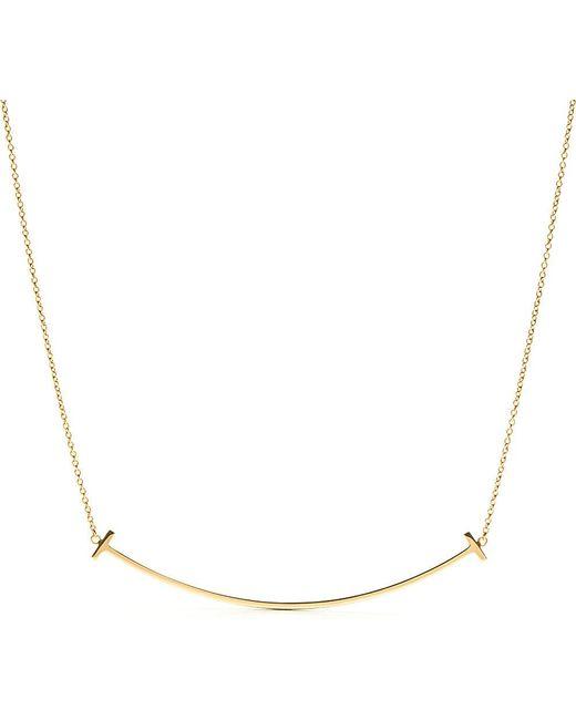 Tiffany & Co | Metallic Tiffany T Smile Pendant In 18K Gold | Lyst