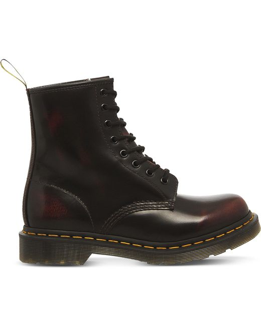 Dr. Martens - Red 1460 8-eye Leather Boots - Lyst
