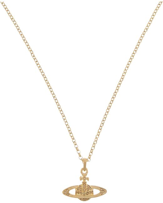 Vivienne Westwood - Metallic Mini Bas Relief Diamante Orb Necklace - Lyst