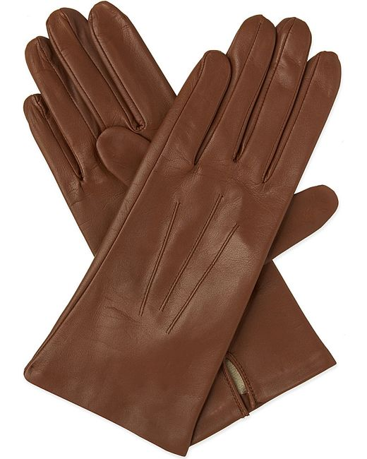 Dents | Brown Classic Silk-lined Leather Gloves | Lyst