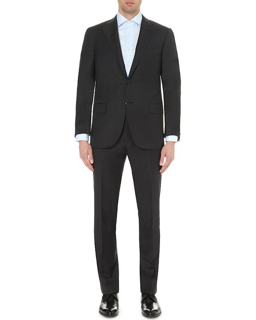 Corneliani | Black Single-breasted Tapered Wool Suit for Men | Lyst
