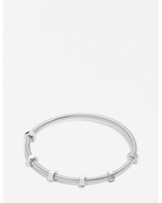 Cartier   Metallic Écrou De White Gold Bracelet   Lyst