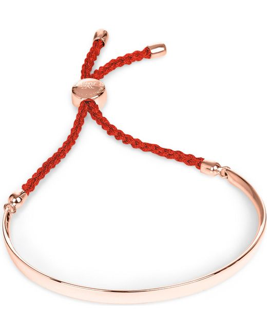 Monica Vinader - Pink Fiji 18ct Rose Gold-plated Friendship Bracelet - Lyst