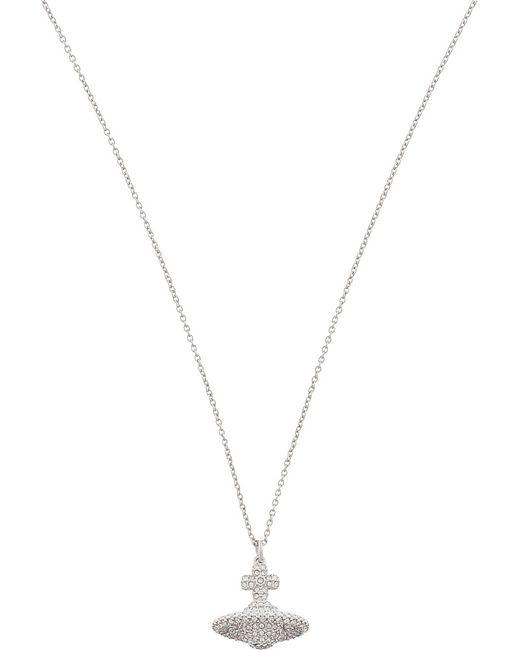 Vivienne Westwood | Metallic Grace Small Pavé Orb Necklace | Lyst