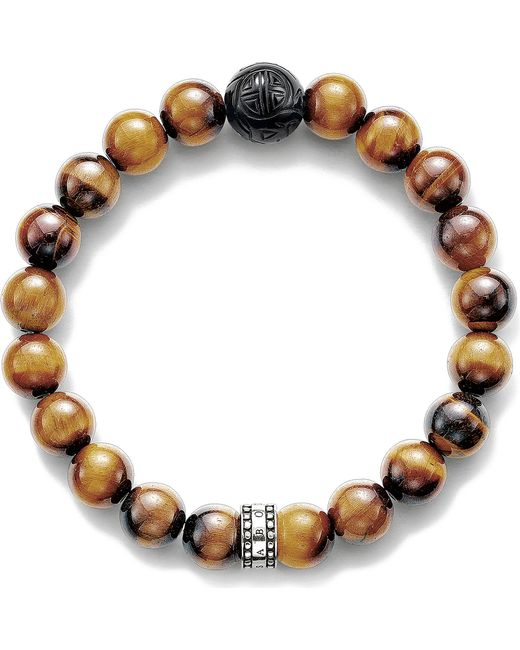 Thomas Sabo - Brown Rebel At Heart Sterling Silver - Lyst