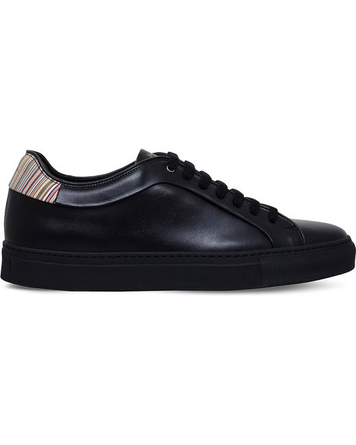 Paul Smith | Black Basso Leather Trainers for Men | Lyst
