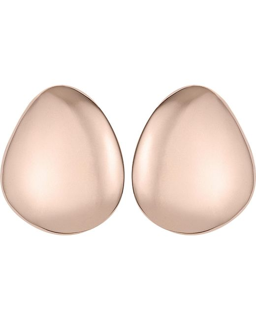 Monica Vinader - Metallic Nura Small Pebble 18ct Rose-gold Vermeil Earrings - Lyst