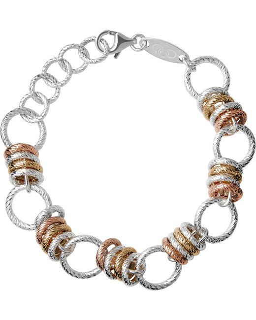 Links of London   Brown Aurora Sterling Silver Large Link Bracelet   Lyst