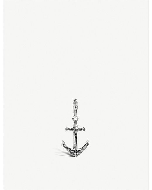 Thomas Sabo - Metallic Skull Anchor Sterling Silver Charm - Lyst