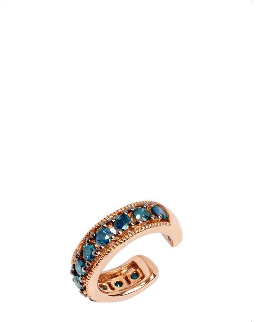 Annoushka - Metallic Dusty Diamonds 18ct Rose Gold And Blue Diamond Ear Cuff - Lyst