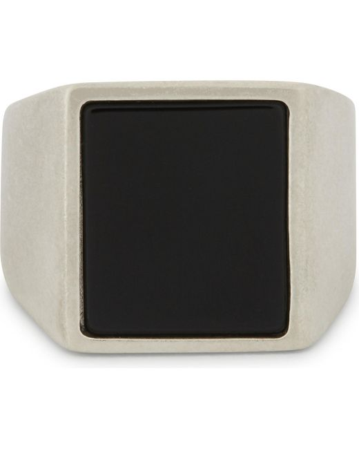 Maison Margiela | Black Silver And Natural Stone Ring | Lyst