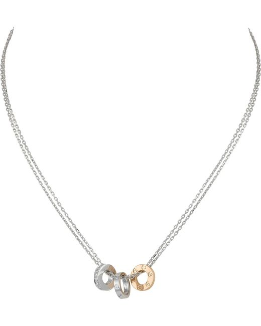 Cartier - Metallic Love 18ct Gold And Diamond Necklace - Lyst
