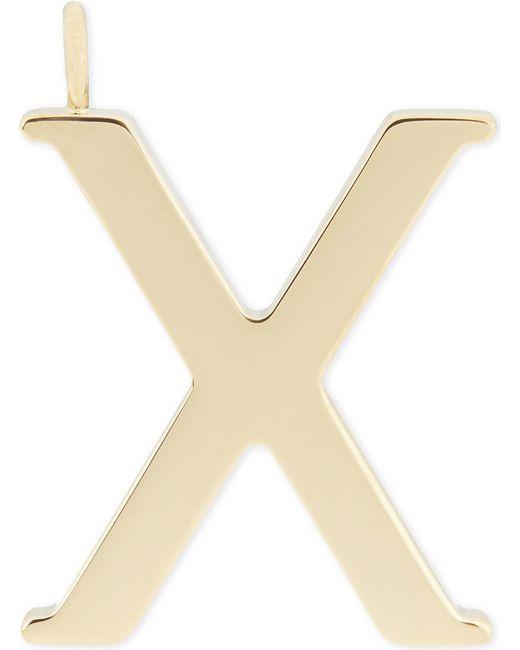 Chloé | Metallic Alphabet X Pendant | Lyst