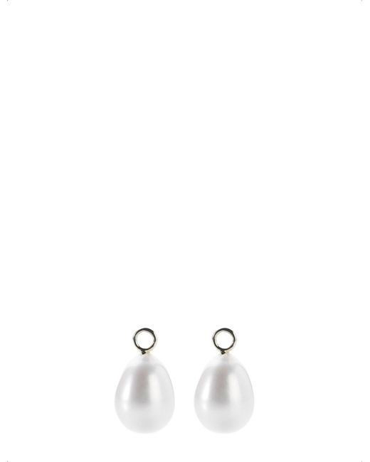 Annoushka - Classic Baroque 18ct White-gold And Pearl Earring Drops - Lyst