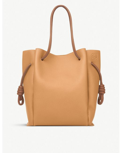 Loewe - Light Caramel And Tan Brown Flamenco Knot Leather Shoulder Bag - Lyst
