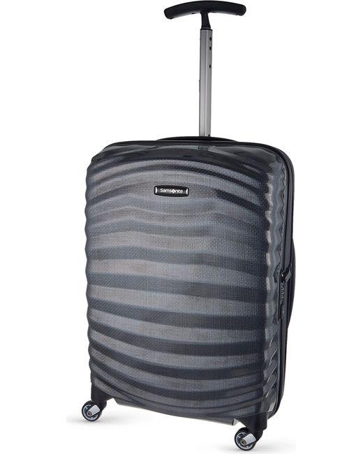 Samsonite - Black Lite-shock Spinner 55 Four-wheel Cabin Suitcase - Lyst