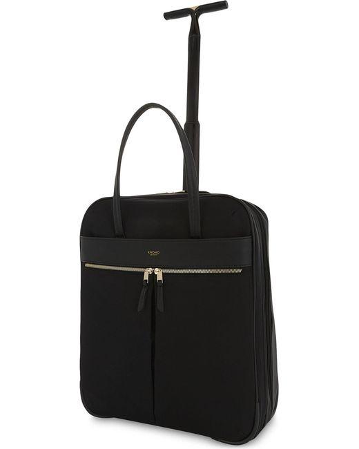 Knomo - Black Mayfair Burlington Nylon Two-wheel Briefcase 38cm for Men - Lyst