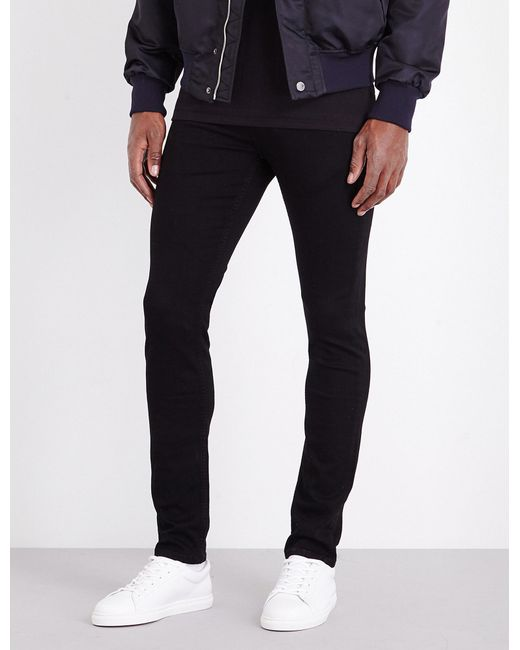 PAIGE - Black Lennox Skinny Mid-rise Jeans for Men - Lyst