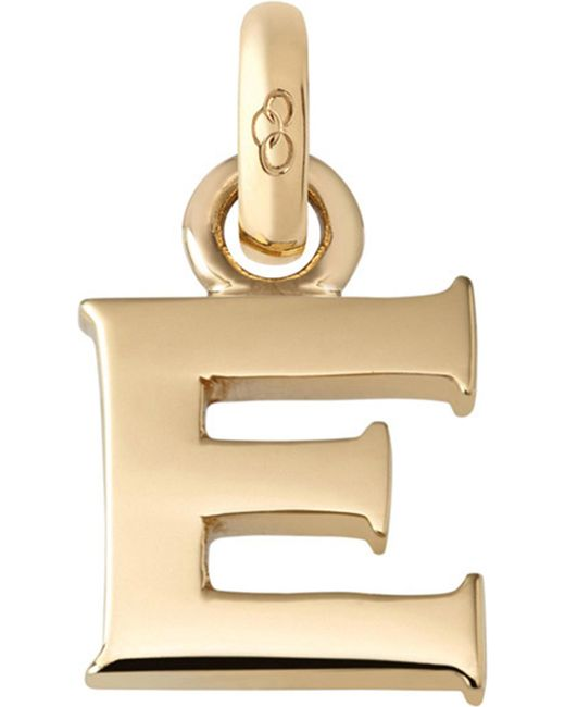 Links of London | Metallic E 18ct Yellow Gold Charm | Lyst