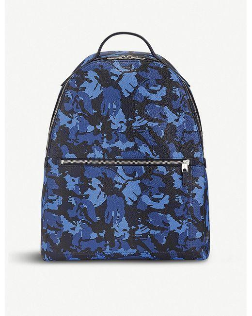 Smythson - Blue Burlington Small Leather Backpack - Lyst
