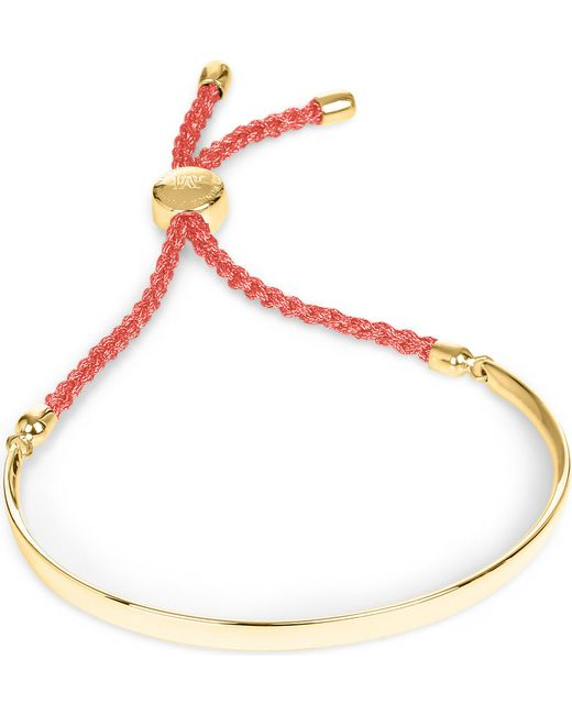 Monica Vinader | Red Fiji 18ct Gold-plated Friendship Bracelet | Lyst