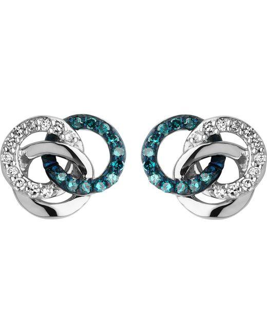 Links of London | Blue Treasured Silver And Diamond Stud Earrings | Lyst