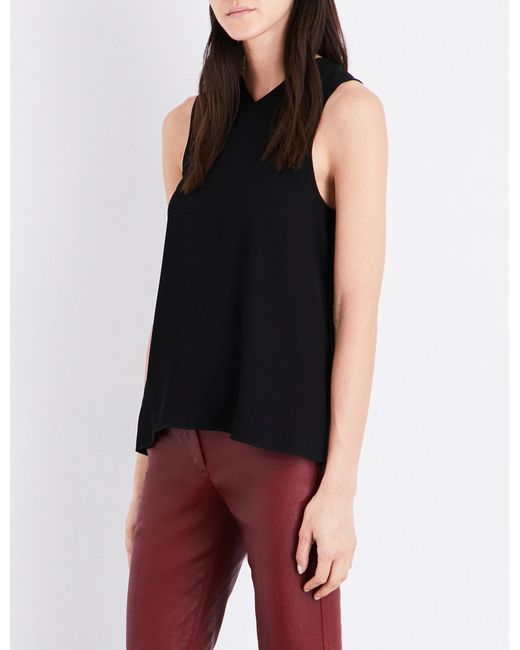 Helmut Lang   Black Ladies Knot Knotted-back Crepe Top   Lyst