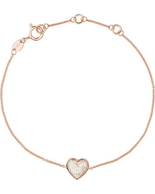 Links of London | Metallic Heart Rose Gold And Diamond Bracelet | Lyst