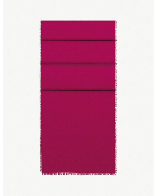 Loewe - Pink Anagram Jacquard Scarf - Lyst