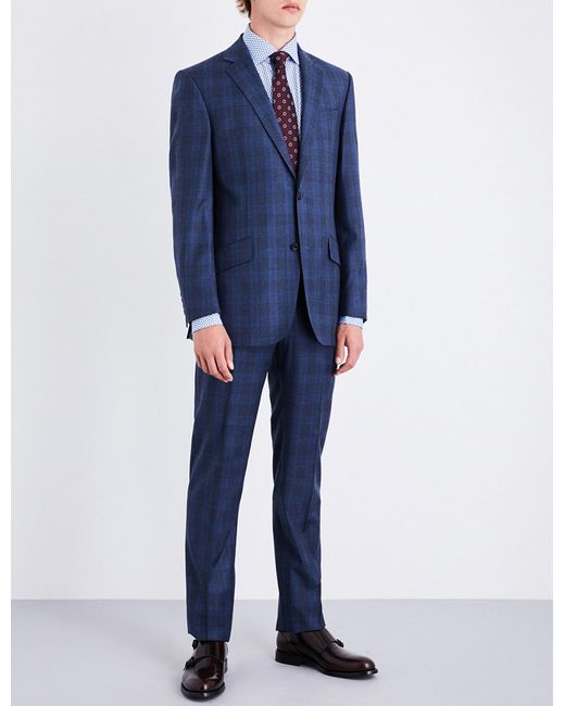 Richard James | Blue Prince Of Wales Check Regular-fit Wool Suit for Men | Lyst