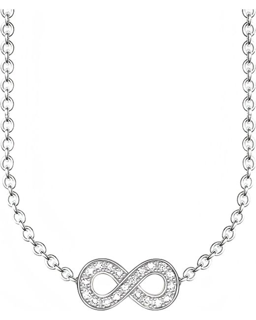 Thomas Sabo - Metallic Glam & Soul Infinity Diamond Necklace - Lyst