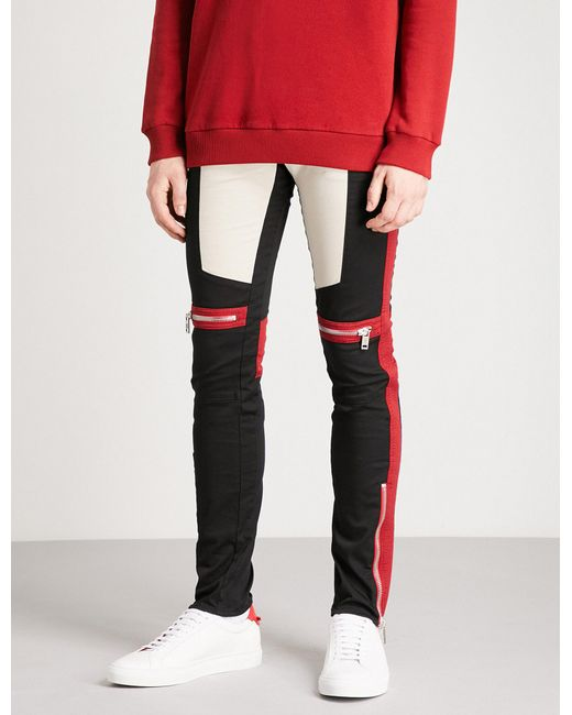 Givenchy - Multicolor Motorcross-detail Slim-fit Skinny Stretch-cotton Trousers for Men - Lyst