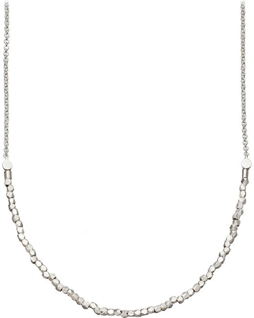 Astley Clarke | Metallic Biography Nugget Detail Sterling Silver Necklace | Lyst