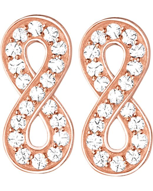 Thomas Sabo | Metallic Glam & Soul Infinity 18ct Rose Gold-plated And Zirconia Earrings | Lyst