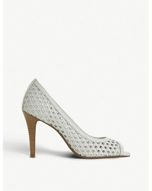 Dune - White Carding Woven-leather Courts - Lyst