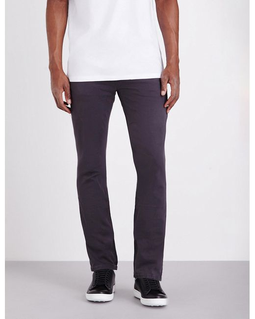PAIGE - Gray Federal Slim-fit Tapered Jeans for Men - Lyst