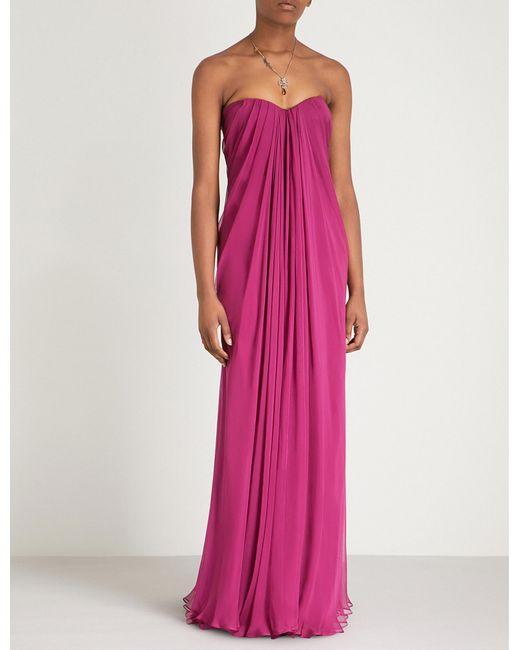 Alexander McQueen - Pink Strapless Silk Organza Gown - Lyst