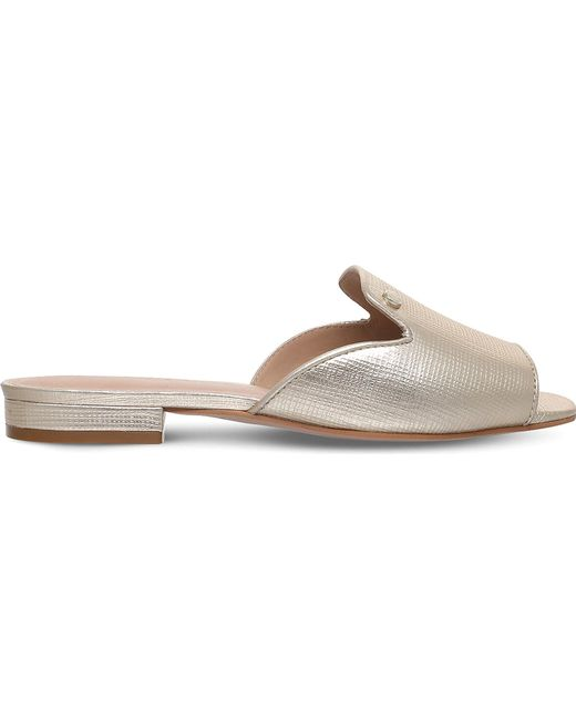 Kurt Geiger - Ivy Metallic Leather Sandals - Lyst