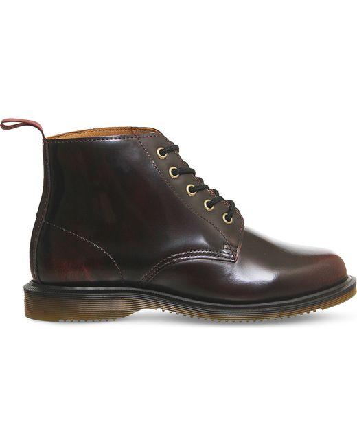 Dr. Martens - Black Emmeline Leather Ankle Boot - Lyst