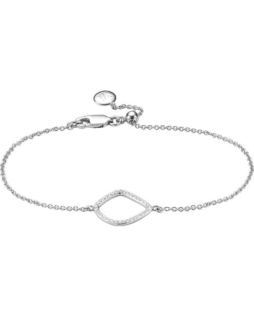 Monica Vinader - Metallic Riva Kite Chain Sterling Silver Pavé Diamond Bracelet - Lyst