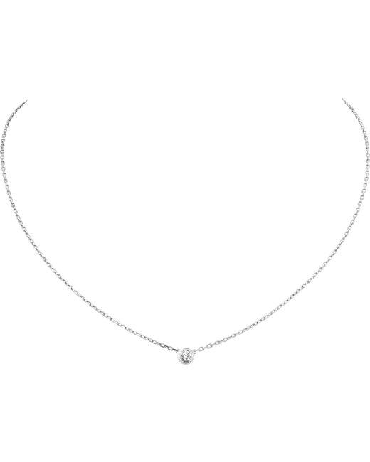 Cartier - Diamants Légers De 18ct White-gold Necklace - Lyst