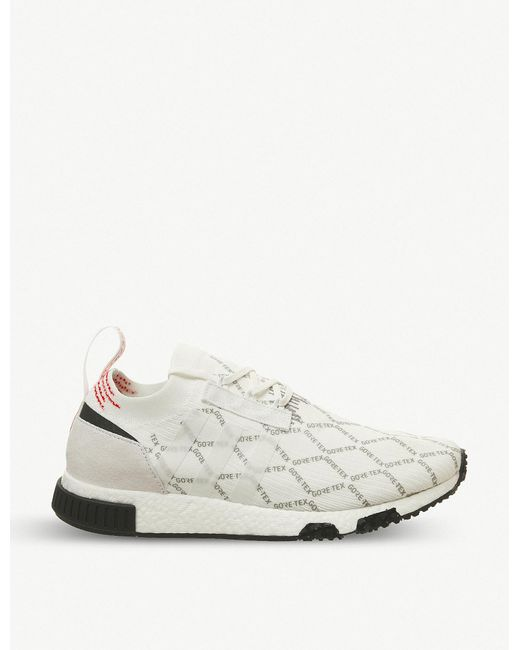57691bfefc442 adidas Nmd Racer Primeknit And Gore-tex Trainers in White for Men - Lyst