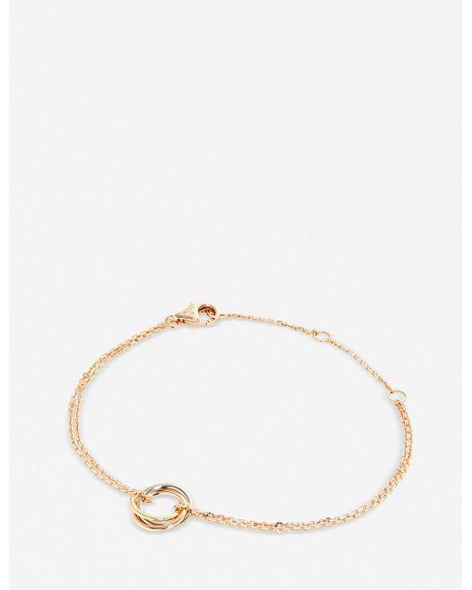 Cartier - Metallic Sweet Trinity 18ct Gold Bracelet - Lyst