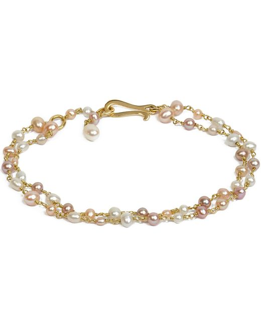 Annoushka - Seed Pearl 18ct Yellow-gold And Pearl Bracelet - Lyst