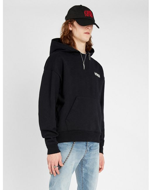 2837ef8e41986b The Kooples Nevermind Cotton-jersey Hoody in Black for Men - Lyst